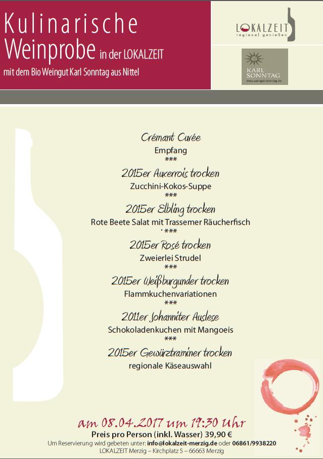 Weinprobe mit dem Weingut Karl Sonntag