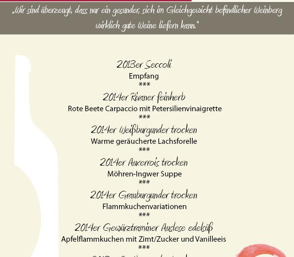 Weinprobe mit dem Weingut Ollinger-Gelz aus Sehndorf